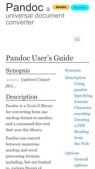 Pandoc - Pandoc User's Guide
