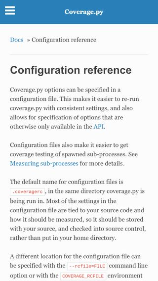 Configuration reference — Coverage.py 5.0a6 documentation